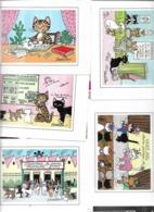 Cpm St004883 Jacqueline Bourdillon Au Royaume Des Chats Lot De 8 Cartes - Other Illustrators