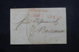 """FRANCE / PAYS BAS - Cachet D'entrée En France """" Pays Bas Par Valenciennes """" Sur Lettre En 1828 - L 46231 - Poststempel (Briefe)"""