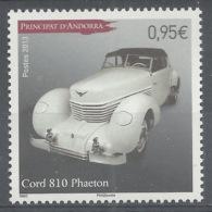 Andorra (French Adm.), Car, Cord 810 Phaeton, 2013, MNH VF - French Andorra