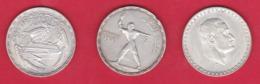 EGITTO - 1956/64 - 3 MONETE D'ARGENTO - - Egypte