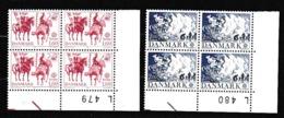 1981 Danimarca Denmark  EUROPA CEPT EUROPE 4 Serie Di 2 Valori In Quartina MNH** Bl.4 - 1981