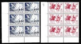 1981 Danimarca Denmark  EUROPA CEPT EUROPE 6 Serie Di 2 Valori In Blocco MNH** - 1981