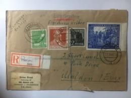 Germany 1948 Cover Registered Hanau To Essex England - Gemeinschaftsausgaben