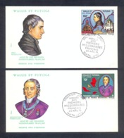 Wallis And Futuna 1978 - Arrival Of The First French Missionaries - 2 FDCs - Excellent Quality - Covers & Documents