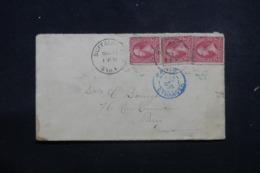 ETATS UNIS - Enveloppe De Buffalo Pour La France En 1895, Affranchissement Plaisant - L 46235 - Cartas
