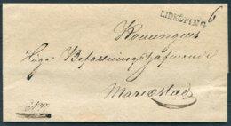 Sweden Prestamp Vorphila Wrapper.Straight Line LIDKOPING - ... - 1855 Prephilately