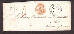 LA RÉUNION BOURBON → Charente 1848 Outre-Mer Rochefort Avec Courrier - Réunion (1852-1975)