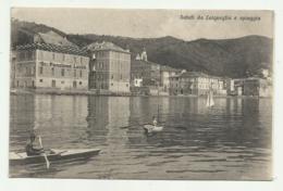 SALUTI DA LAIGUEGLIA E SPIAGGIA 1926  VIAGGIATA  FP - Savona