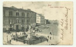 BARI - PIAZZA GIUSEPPE MASSARI  VIAGGIATA  FP - Bari