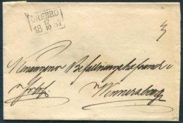 1857 Sweden Prestamp Vorphila Wrapper. Orebro - ... - 1855 Prephilately