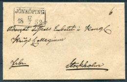 1852 Sweden Prestamp Vorphila Wrapper. Jonkoping - ... - 1855 Prephilately