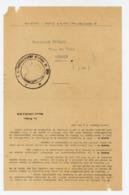 RATION DE VIN DE MAI 1946  - CACHET DE LA DIRCTION DE RAVITAILLEMENT GÉNÉRAL DU JURA - Décrets & Lois