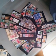 MONDIALI ACCUMULO USATI SU SCHEDE - Briefmarken