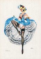 4444 Cpsm Illustrateur ALICE -  French Can - Can - Corinne - Künstlerkarten