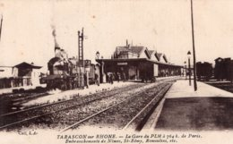 4451 Cpa Tarascon - La Gare Du PLM - Tarascon