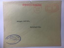 Germany 1937 Cover Freie Stadt Danzig Meter Mark To Helsingborg Sweden - Germany