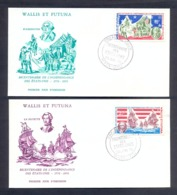 """Wallis And Futuna 1976 - Bicentenary Of The Independence Of USA """"1976-1976"""" - Excellent Quality - Covers & Documents"""