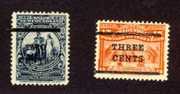 2x Newfoundland MH Stamps #127-2c/30c,129-3c/15c Cross On E Cat Value = $70.00+ - Newfoundland