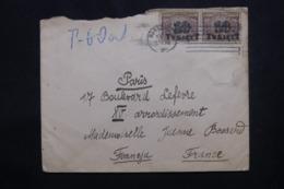 POLOGNE - Enveloppe De Warszawa Pour La France En 1923, Affranchissement Plaisant Surchargé, Période Inflation - L 46242 - 1919-1939 République