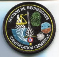 PA346  PATCH ECUSSON Gendarmerie SECTION DE RECHERCHE IDENTIFICATION CRIMINELLE 80MM SUR VELCRO - Ecussons Tissu