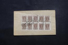 RUSSIE - Enveloppe Pour La France En 1923 Affranchissement Plaisant Au Verso ( Bloc De 10 Timbres ) - L 46244 - Covers & Documents