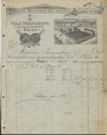 FACTUUR * FELIX BEERNAERTS * 1890 * TISSAGE MECANIQUE DE CALICOTS * BLANCHISERIE * PLACE DE LA STATION * - Old Professions