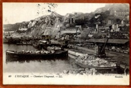 13  CPA  MARSEILLE  L'Estaque    Chantiers  Chagnaud   1918   Joli Plan    Bon état - L'Estaque