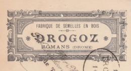 Traite 1901 / DROGOZ / Fabrique Semelles Bois / 26 Romans Drôme - France