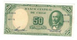 Chile, 50 Pesos. AUNC(litt. Tear At Right) - Chili