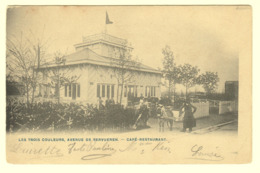 A0204[Postkaart] Les Trois Couleurs, Avenue De Tervueren - Café - Restaurant (Phot. Bertels) [Woluwe Attelage âne Ezel] - Cafés, Hoteles, Restaurantes