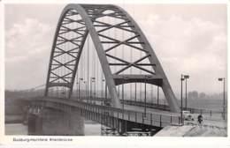 DEUTSCHLAND Allemagne ( RNW ) DUISBURG - HOCHFELD : Rheinbrück ( Pont ) CPSM N/B Format CPA - Germany Duitsland - Duisburg