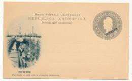 """ARGENTINE - Entier Postal / Carte Postale 6 Centavos """"MUESTRA"""" - Dique De Carena - Ganzsachen"""