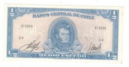 Chile, 1/2 Escudo. AUNC(one Litt.hole) - Chili