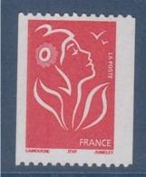= Type Marianne De Lamouche TVP Rouge De Roulette ITVF Neuf Gommé N°3743 Et Numéro 223 Noir à Droite Au Verso - Rollen