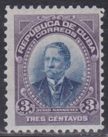 Cuba, Scott #241, Mint Hinged, Julio Sanguily, Issued 1910 - Kuba