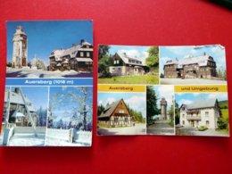 2 X AK Auersberg - Berghotel Gasthaus - Umgebung - Erzgebirge - 1981 - 1982 - Auersberg