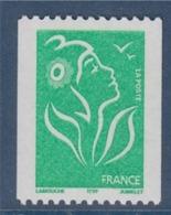 = Type Marianne De Lamouche TVP Vert De Roulette ITVF Neuf Gommé N°3742 Et Numéro Noir 055 Au Verso à Droite - Rollen
