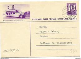 """163 - 100 - Entier Postal Avec Illustration """"Automobil-Postbureau"""" Superbe Cachet à Date Langenthal 1938 - Entiers Postaux"""