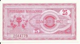 MACEDOINE 25 DENARI 1992 UNC P 2 - Macedonië