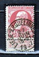 Nr 74 Gestempeld Liege-Erquelinnes (zie Opm) - 1905 Grosse Barbe