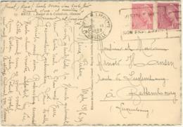 RARE- 5C + 70C MERCURE TARIF PARTICULIER CARTE POSTALE + DE 5 MOTS POUR LE LUXEMBOURG 26/06/39 - Marcophilie (Lettres)