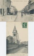 CPA 2 Cartes SAINT RAMBERT D'ALBON -LA GRANDE RUE - Et L'EGLISE - Andere Gemeenten