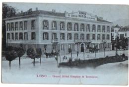1908 LUINO - Carte Animée Sur Le GRAND HOTEL SIMPLON & TERMINUS - Luino
