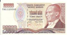 TURQUIE 20000 LIRA 1995 UNC P 202 - Turchia