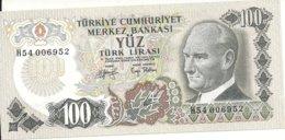 TURQUIE 100 LIRA L.1970 UNC P 189 - Turchia