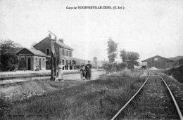 TOUFREVILLE-CRIEL (Seine Maritime) - La Gare. Edition Suret-Perrand. Non Circulée. TB état. - France