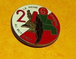 6° Régiment De Dragons, 2° Escadron, Casque Relief, FABRICANT DELSART SENS ,HOMOLOGATION SANS, ETAT VOIR PHOTO  . POUR T - Hueste