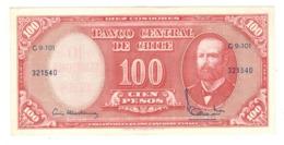 Chile, 10 Centesimos De Escudo On 100 Pesos . XF/AUNC - Chili