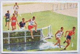 Foto Cromo Olimpiada De Los Ángeles. 1932. Nº 36. Atletismo 3000 Metros Salto Obstáculos. Evenson, Inglaterra. Berlín - Tarjetas