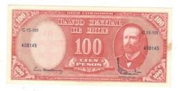 Chile, 10 Centesimos De Escudo On 100 Pesos . AUNC - Chili